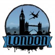 Stock Vector: London vintage background