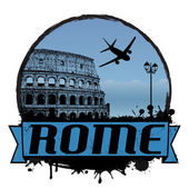 Rome vintage background — Stock Vector
