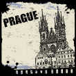 Vintage view of Prague — Stock Vector