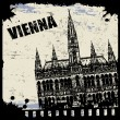 Vintage view of Vienna — Stock Vector