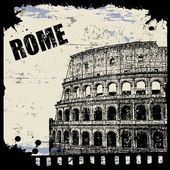 Vintage view of Rome — Stock Vector