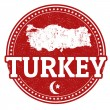 Stock Vector: Turkey stamp