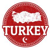 Turkiet stämpel — Stockvektor