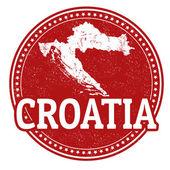 Croatia stamp — Stock Vector