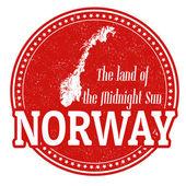 Norway stamp — Stock Vector