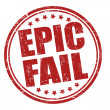 Stock Vector: Epic fail stamp