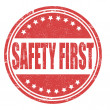 Safety first stamp — Stock Vector