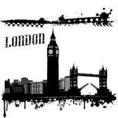 Grunge London poster — Stock Vector