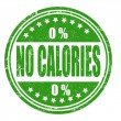 Stock Vector: No calories stamp