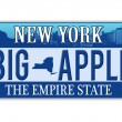 An imitation New York license plate — Stock Vector #38612225