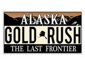 An imitation Alaska license plate — Stock Vector