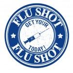 Flu shot stamp — Stock Vector