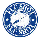 Flu shot timbro — Vettoriale Stock