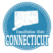 Stock Vector: Connecticut stamp