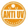 Stock Vector: Anti UV stamp