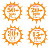 Set of Anti-UV stamps — Stock Vector