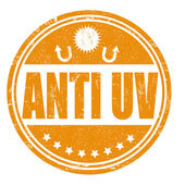 Anti UV stamp — Stock Vector