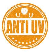 Anti UV stamp — Stock Vector