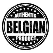 Authentic belgian product stamp — Stock Vector
