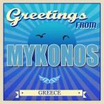 Mykonos, Greece touristic poster — Stock Vector #39003747