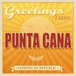 Punta Cana, Dominican Republic touristic poster — Vector de stock
