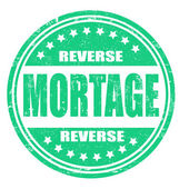 Reverse mortgage stamp — Stock Vector