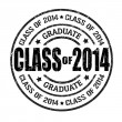 Class of 2014 stamp — Stock Vector #39035265