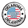 Oklahoma, Sooner State stamp — Stock Vector