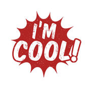 I'm cool stamp — Stock Vector