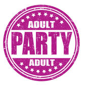 Adult party stamp — Vetorial Stock