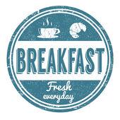 Breakfast stamp — Stock Vector