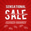Sensational sale, amazing discount design — Stock Vector