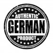 Stock Vector: Authentic germproduct stamp