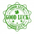 Stock Vector: Good luck stamp
