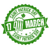 Saint Patrick Day stamp — Stock Vector