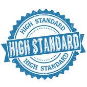 High standard stamp — Vector de stock