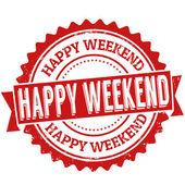 Happy weekend stamp — Stock Vector