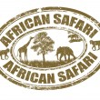 Постер, плакат: African safari stamp