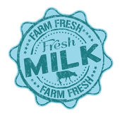 Fresh milk stamp — Stock Vector