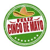 Feliz Cinco de Mayo stamp — Stock Vector