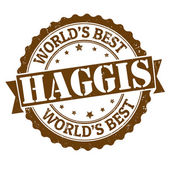Haggis stamp — Vector de stock