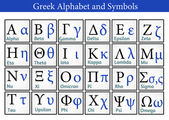 Greek Alphabet and Symbols — Stock Vector