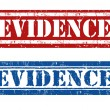 Stock Vector: Evidence stamps