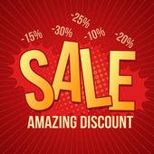 Sale, amazing discount design — Stock Vector