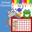School timetable — Stock Vector #39908811