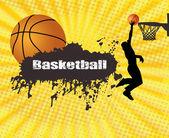 Grunge basketbal poster — Stockvector