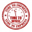 Stock Vector: Time to impress stamp