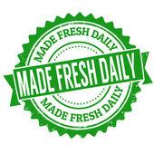 Fez o selo diário fresco — Vetor de Stock