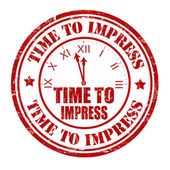 Time to impress stamp — Stock Vector