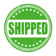 Stock Vector: Shipped stamp
